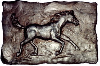 Horse in bas-relief